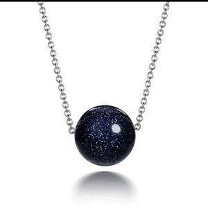 925 Minimalist Sunstone Black/Purple necklaces
